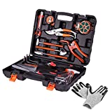 KORAM 13-Pieces Garden Tools Kit Plant Care Tool Home Improvement Tool Sets with Carrying Case Include Secateurs, Trowel Pruners, Pruning Saw, Rakes Photo, bestseller 2018-2017 new, best price $42.99 review