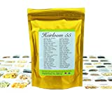 Heirloom Seed Bank with 55 Varieties of Vegetable seeds by Heirloom Futures. 100% NON GMO Open Pollinated Non-Hybrid Naturally Grown Premium 2017 USA Seed Stock for All Gardeners. Photo, bestseller 2018-2017 new, best price $54.99 review