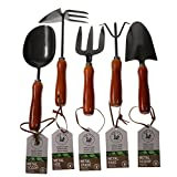 Unity 5-Piece Premium Medium Duty Garden Tool Set - Ergonomic Wooden Handles - Anti-Rust - Strong And Durable - Garden Tested Photo, bestseller 2019-2018 new, best price $13.97 review
