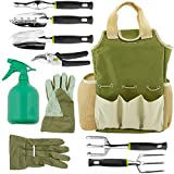 Vremi 9 Piece Garden Tools Set - Gardening Tools with Garden Gloves and Garden Tote - Gardening Gifts Tool Set with Garden Trowel Pruners and More - Vegetable Herb Garden Hand Tools with Storage Tote Photo, bestseller 2019-2018 new, best price $39.99 review