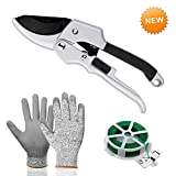 Morgofun Garden Tools Set, 3 Pieces Heavy Duty Gardening Hand Tool Set with Garden Bypass Pruning Shears, Cut Resistance Gloves and Plant Rope, Best Garden Tools Gift for Women Men Photo, bestseller 2018-2017 new, best price $53.99 review