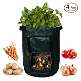 SOME 4-Pack 10 Gallon Potato Grow Bags Garden Vegetables Planter Bags with Access Flap and Handles Heavy Duty Aeration Fabric Pots Photo, bestseller 2018-2017 new, best price $59.99 review