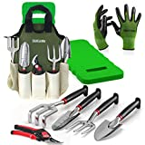 Comfort Plus 8-Piece Gardening Tool Set - Includes EZ-Cut Pruners, Lightweight Aluminum Tools with Soft Rubber Handles and Bamboo Gloves and Ergonomic Garden Tote and High Density Comfort Knee Pads Photo, bestseller 2019-2018 new, best price $44.99 review