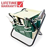 GardenHOME Folding Stool with Tool Bag and 5 Tools Garden Tool Set All-in-one Photo, bestseller 2018-2017 new, best price $60.99 review