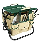 Wings and Water 7 Piece Garden Tool Set, All-In-One Tool Bag, Durable Folding Stool, Stainless Steel Photo, bestseller 2018-2017 new, best price  review
