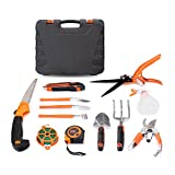 HOTPDR Garden Tool Set 12 PCS With Pruning Shears Folding Hand Saw Shovel Shears Etc Photo, bestseller 2018-2017 new, best price $79.99 review