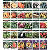 Heirloom Seed Assortment – Collection of 30 Non-GMO, Easy Grow, Gardening Seeds: Vegetable, Fruit, Herb & Flower – Open Pollinated – Radish, Pumpkin, Dill, Eggplant, Sunflower, More Photo, bestseller 2018-2017 new, best price $29.99 review