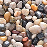 OUPENG Pebbles 2 Pounds Polished Gravel, Natural Polished Mixed Color Stones, Small Decorative River Rock Stones (32-Oz). Photo, bestseller 2019-2018 new, best price $8.69 review