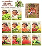 VEGETABLES SEEDS, 10 SEED PACKS, 100% CERTIFIED ORGANIC Non GMO - Vegetable Assortment- No Gardening Experience Required Popular varieties of Easy to Grow Seeds Photo, bestseller 2019-2018 new, best price $27.92 review