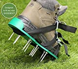 Lawn Aerator Spike Shoes, Ohuhu Adjustable Aerating Lawn Soil Sandals with Metal Buckles and 3 Adjustable Straps, Heavy Duty Spiked Sandals for Aerating Your Lawn or Yard Photo, bestseller 2018-2017 new, best price $17.99 review