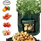 Besiva Potato Grow Bag 3-Pack, Garden Vegetables Planter Bags with Flap and Handles Heavy Duty Suitable for Potato, Carrot, Tomato, Onion and so on, ccc1 Photo, bestseller 2018-2017 new, best price $14.99 review