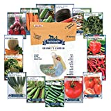 6,600+ Heirloom Seeds, 15 Variety Granny's Garden, Non GMO Heirloom Vegetable Garden Seeds, Beet, Carrot, Cucumber, Basil, Kale, Lettuce, Melon, Onion, Pea, Pepper, Squash and Tomato Seeds Photo, bestseller 2018-2017 new, best price $16.99 review